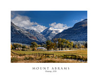 Mount Abrams - Ouray, CO (11x14 Print)