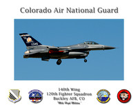 "140th Wing Poster - Colorado Air National Guard (16"" x 20"")"