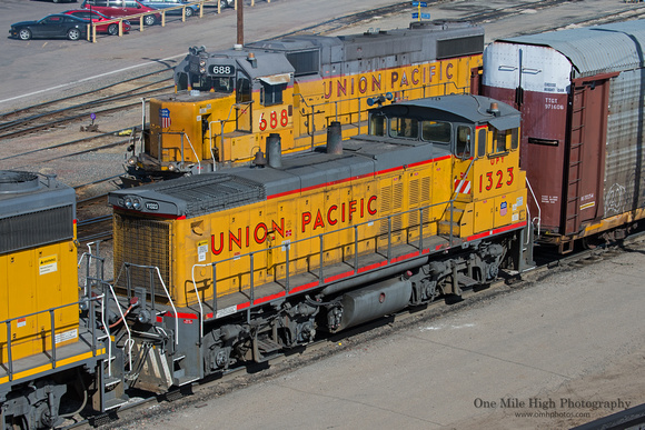 One Mile High Photography Union Pacific General Motors Emd Mp15dc Locomotive 1323