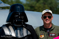 Randy Ball (MiG-17 Pilot) and Darth Vader (501st Legion)